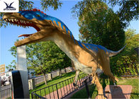 Neck Turning / Tail Moving Fiberglass Outdoor Dinosaur Anti - High Temperature