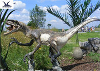 Neck Turning / Tail Moving Outdoor Dinosaur Statues Anti - High Temperature
