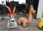 Height 1.5 Meters Giraffe Motorized Animal Scooters For Amusement Park