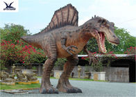 Attractive Animatronic Jurassic Dinosaur Garden Ornaments Mouth Movement With Sounds