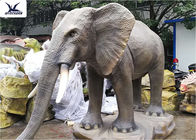 Life Size Animatronic Elephant Garden Ornaments Zoo Park Decorative Statues
